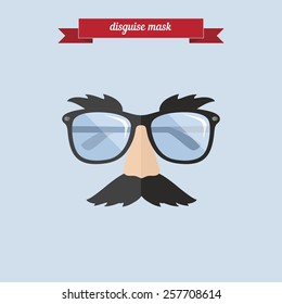 Disguise mask. Flat style design - vector