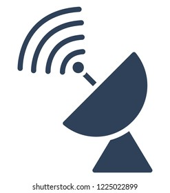 Dish antenna, parabolic antenna  Isolated Vector Icon That can be easily edited in any size or modified.