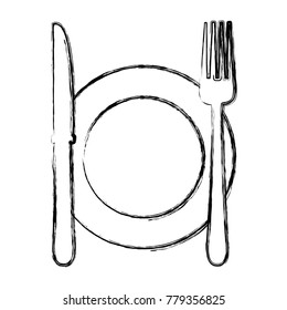 Dish and cutlery