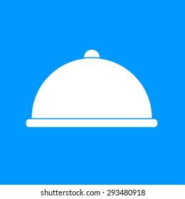 Dish served. eps 10 vector composition illustration