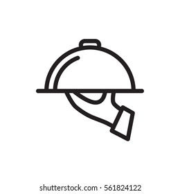 dish serving icon illustration isolated vector sign symbol