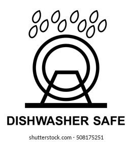 Dishwasher safe symbol isolated. Dishwasher safe sign isolated, vector illustration.