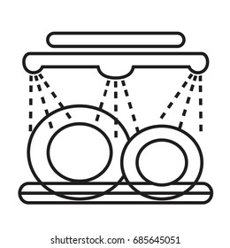dishwasher vector icon