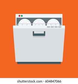 dishwasher. vector illustration in flat style