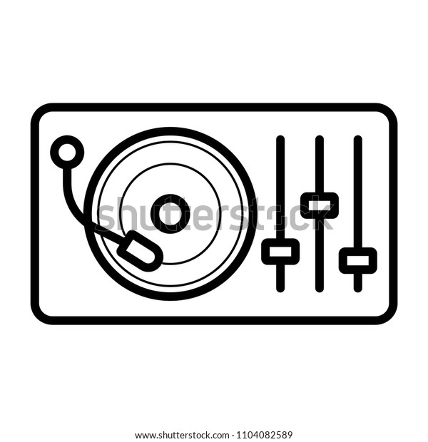 Disk Jockey turntable icon