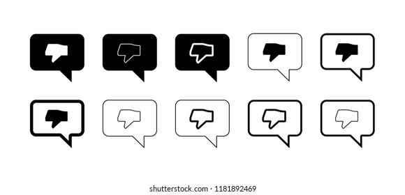 Dislike dialogs. Icon set