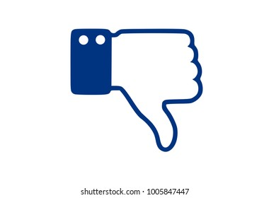 Dislike hand thumb down illustration vector symbol sign gesture