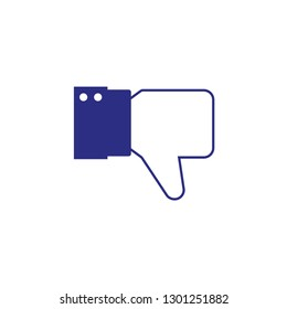 Dislike hand thumb down illustration vector symbol sign gesture.
