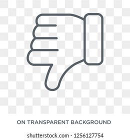 Dislike icon. Dislike design concept from  collection. Simple element vector illustration on transparent background.