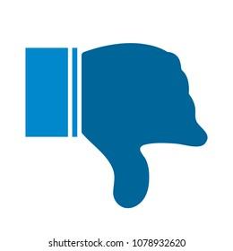 Dislike icon - thumb down button, bad symbol - negative illustration