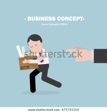 dismissal manager employee stock vector royalty free 675731554