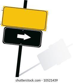 display board with arrow symbols