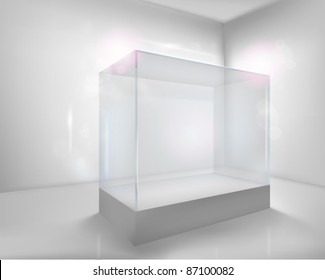 Display case. Vector illustration.