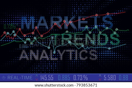 Real Time Stock Quotes | Display Live Stock Quotes Shows Data Stock Vector Royalty Free