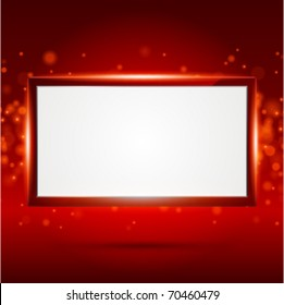 Display Screen fly with light vector background