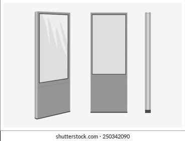 display, sign, signage,pylon,vector,street furniture, exhibition, showcase, street