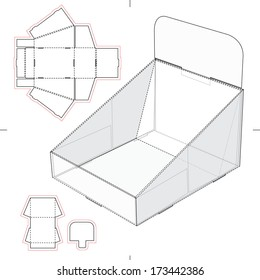Display Stand Tray with Blueprint