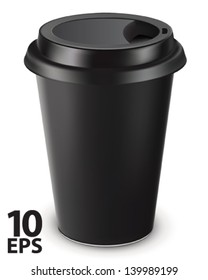 Disposable coffee cup isolated. Vector illustration