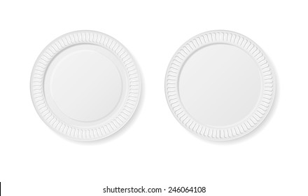 Disposable plates Isolated on white background vector illustration  sc 1 st  Shutterstock & Disposable Plates Images Stock Photos \u0026 Vectors | Shutterstock
