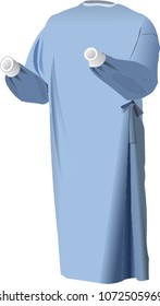 Disposable surgical gown vector