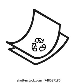 Disposal paper vector icon