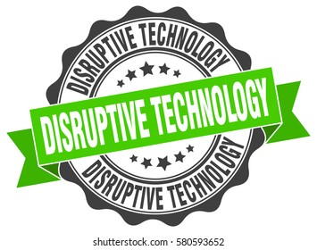 disruptive technology. stamp. sticker. seal. round grunge vintage ribbon disruptive technology sign