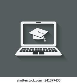 distance online learning symbol - vector illustration. eps 10