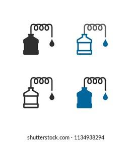 Distillation apparatus icons