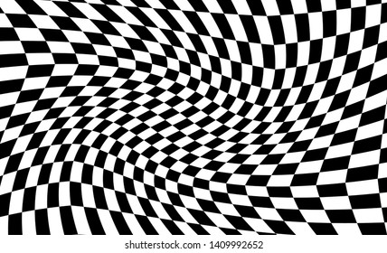 Distorted Chess Background Vector illustration EPS10