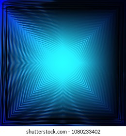 The distortion of the screen. Blue star. Pulsar. Metallic blue. Nice background.