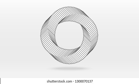 Distortion twisted circular spiral wave abstrct background