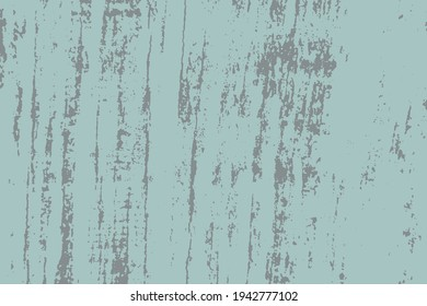 Distress blue urban used texture. Brushed paint cover. Empty aging design element. Grunge rough dirty background. Overlay aged grainy messy template. Renovate wall frame grimy backdrop. EPS10 vector