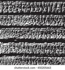 Distress Burned Wooden Planks Overlay Texture. Empty Grunge Design Element. EPS10 vector.