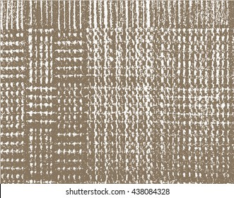 Distress overlay weaving fabric texture in grunge style.