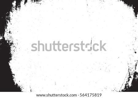 distressed abstract border overlay texture dark stock vector