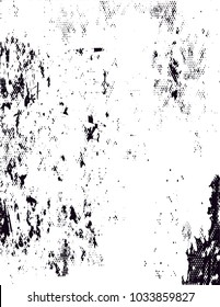 Distressed background in black and white texture with  blossom, dark spots, scratches and lines. Floral vector illustration
