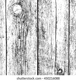 Distressed Dry Wooden Planks Overlay Texture. Empty Grunge Design Texture. EPS10 vector.