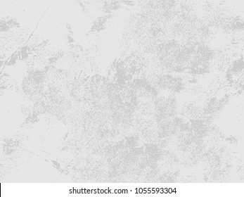 Distressed floor seamless pattern, white and gray background, stucco grunge. Vector illustration of cement or concrete wall textured.