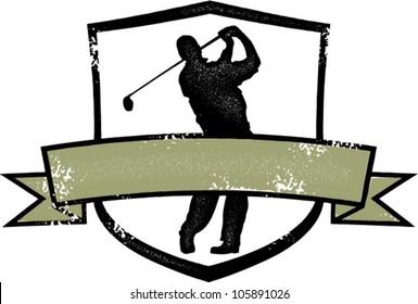 Distressed Golf Crest