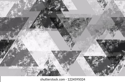 Distressed Grunge Geometric Seamless Background. Distressed Technology Pattern. Tech Texture with Grunge Effect. Sporty Fashion Pattern.