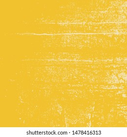 Distressed Grunge Yellow color texture. Empty damaged and scratchy painted background. EPS10 vector