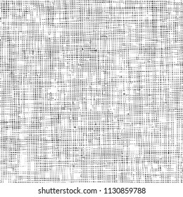 Distressed linen texture. Detail. Vector illustration.