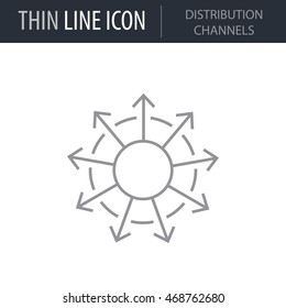 Distribution Channels Concept Icon. Thin line Icon of Advertising Media