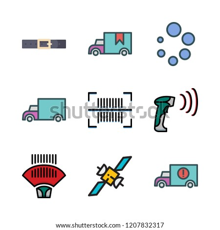 Distribution Icon Set Vector Set About Stock Vector (Royalty