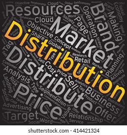 Distribution,Word cloud art background