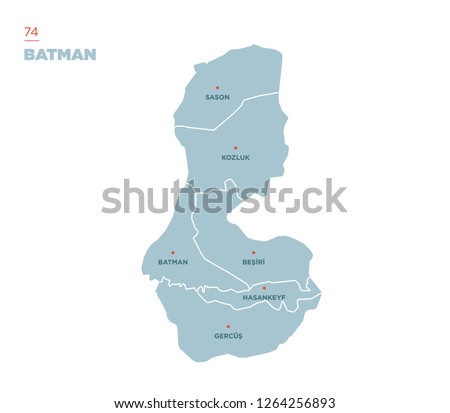 District map of Batman