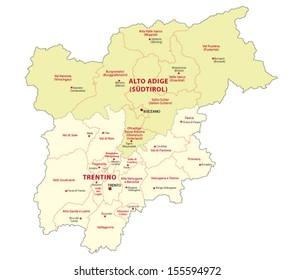 districts of trentino-alto adige-suedtirol