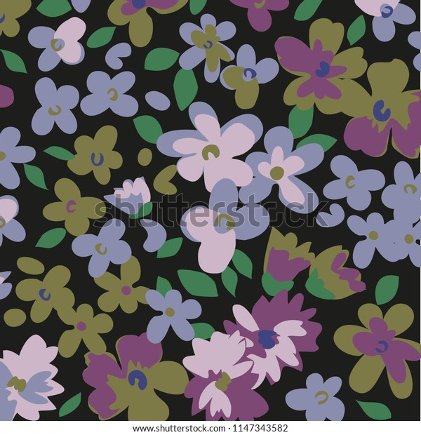 Ditsy floral background. Liberty style. fabric, covers, manufacturing, wallpapers, print, gift wrap.