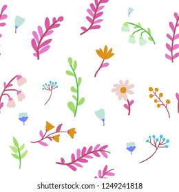 Ditsy floral seamless pattern.