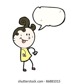 ditsy girl with speech bubble